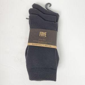 FRYE Supersoft Crew Socks NWT black size 5-10